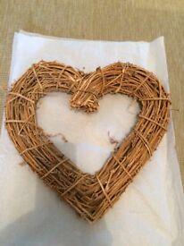 Heart Shaped Natural Twig Christmas Wreath