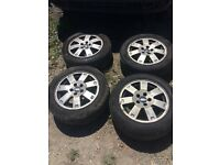 Ford mondeo/ connect van alloy wheels 4 good tyres 205 55 16 5 stud