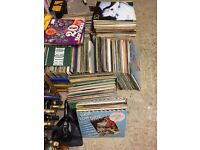 """Aprox 350 vinyl albums and 12"""" singles"""
