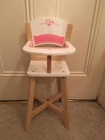 Dolls Wooden High Chair £10