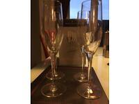 Dartington crystal Champagne Flutes