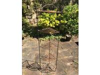 Wrought iron plant stand.