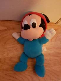 Lullaby Mickey Mouse soft bedtime toy with glowing cheeks Fisher Price baby toy