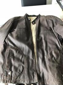 Men's Quality Brown Leather Jacket - size 44inch chest