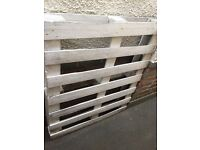 2 x White Shabby Chic Upcycled Painted Wooden Pallets