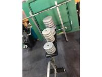 Pro Power Bench with Bar & York Weights (60kg)