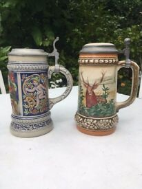 Pair of Beer Steins, excellent condition - Perfect for Octoberfest