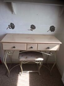 dressing table/desk and matching stool