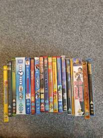 18 mixed children's dvds