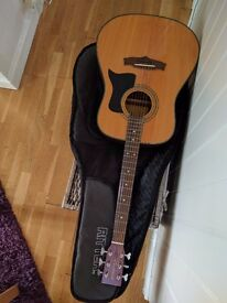 Tanglewood Acoustic Guitar (new stings) + case