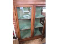 Very old glass cabinet free to Collect