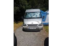 Ford Transit campervan. Fully fitted with lots of extras