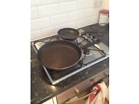 Large Tefal Frying Pan and Small Non-Stick Frying Pan