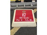 Golf memorabilia plaque par sign garden