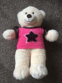 Build-a-Bear Workshop Teddy Bear with Star T Shirt.