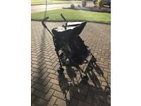 Maclaren Double Buggy Stroller Pram Navy Blue Grey