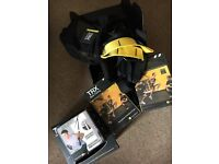 TRX suspension trainer model P2, mesh bag, intro video, quickstart workout guides, fittings