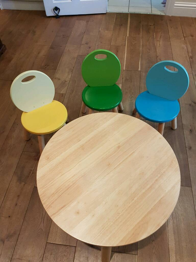 John Crane Pintoy Kids Table and Chairs set (solid wood) 60cm | in ...