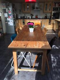 Beautiful French Antique work table / kitchen dining table