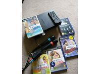 Playstation 2 with singstar pack