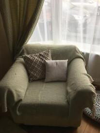 Cream tub chair/ arm chair