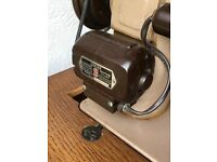 Old vintage sewing machine in cupboard
