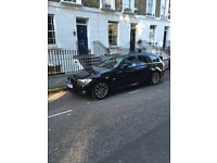 BMW 318D ESTATE TOURING BLACK FULL SERVICE HISTORY £30 TAX LEATHERS PARKING SENSORS PRIVACY GLASS,