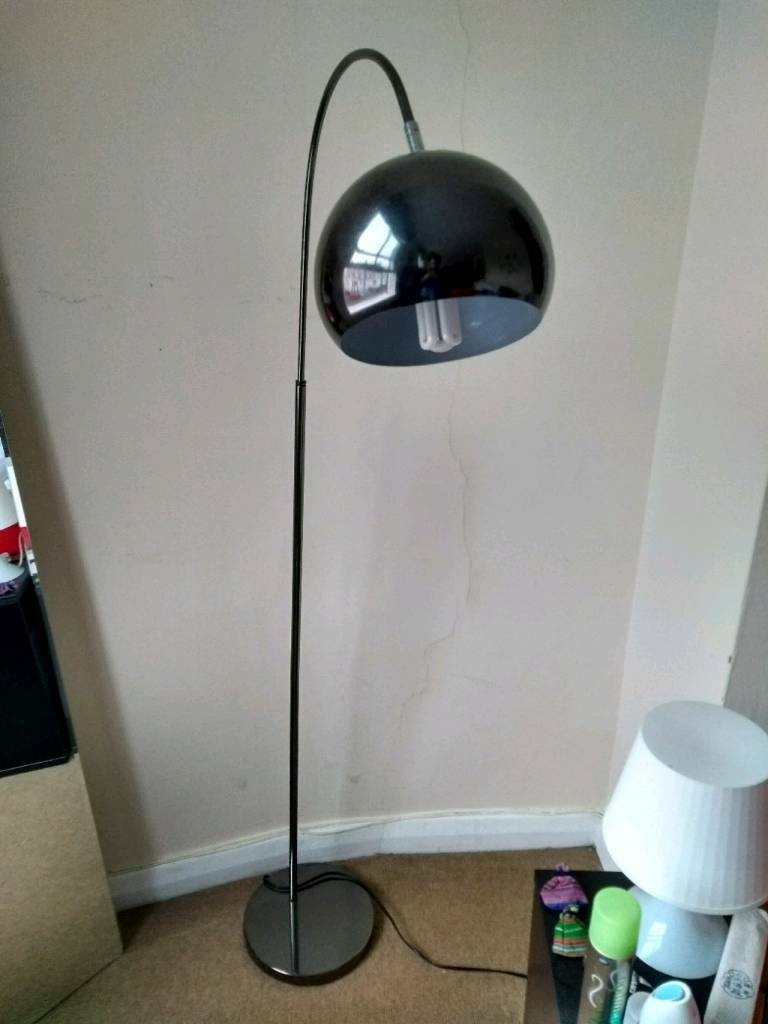 HOME Curva chrome floor lamp