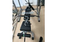 Rack bench weights bars and clips