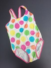 Girls' Patterned Swimming Costume / Swim Suit by Marks&Spencer, age 3-4 years