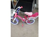 """Minnie Mouse 12"""" wheels bike with stabilizers"""