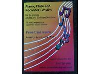 Flute/Piano/Recorder Lesson