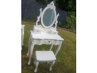 set of white dunelm toulouse furniture. £475 new in store