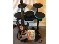 Nintendo wii Band Hero drum and guitar set