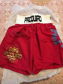 Manny Pacquiao signed shorts