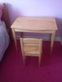 Childs desk/dressing table and chair.