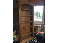 Wooden Book shelf in pine, stand alone, suit office or bedroom