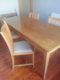 A very solid and sturdy table & 4 chairs that came originally from a local college.