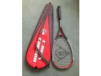 Dunlop c-max carbon squash racket and bag