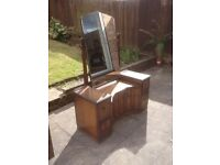 Antique dressing table with swivel mirror.