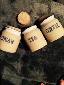 Tea , Coffee, Sugar canisters