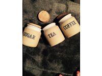 Tea , Coffee, Sugar canisters