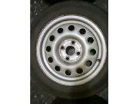 "Mk2 Golf 14"" steel wheels"
