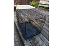Dog cage black metal frame