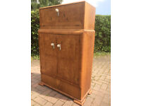 Genuine Deco era Walnut Veneer Cocktail Cabinet
