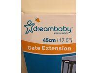 Dreambaby Chelsea 45cm black Stair Gate Extension