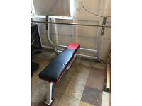 Weights bench with bar