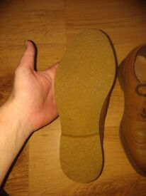 Boys tan brouges shoes size infant 6 and junior 2
