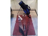 Gent's Prosimmon, full size, right handed golf set with flip stand bag.