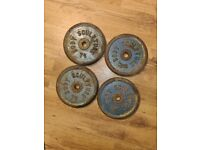 4x7.5kg bodysculpture iron weights
